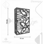 ARANDELA LASER 30X15cm - 2xE27 - AR23- FOXLUSTRES