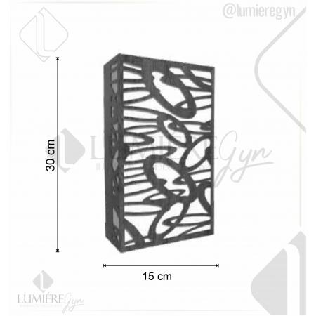 ARANDELA LASER 30X15cm - 2xE27 - AR24 - FOXLUSTRES