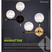 Arandela Manhattan Dourada/Preta