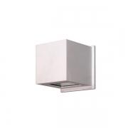 ARANDELA QUADRADA 2 FACHO 12X11,5X11,5cm LED INTEGRADO ALUMINIO COM VIDRO TRANSPARENTE – 237/2-301/302