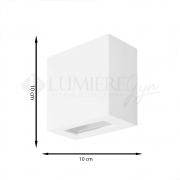 ARANDELA RETANGULAR 2 FACHOS 10X10X5cm LED INTREGADO  ALUMINIO COM VIDRO TRANSPARENTE – 223/2-301/302  - ITAMONTE