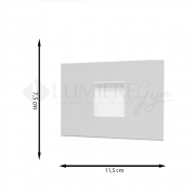 BALIZADOR ITAMONTE 901 LED CAPSULA 1XG9 75X40X115MM