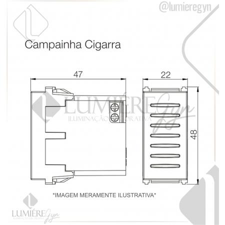 CAMPAINHA CIGARRA BIV REFINATTO PRETA - 13799458