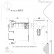 CARREGADOR USB REFINATTO PRETO - 13799961