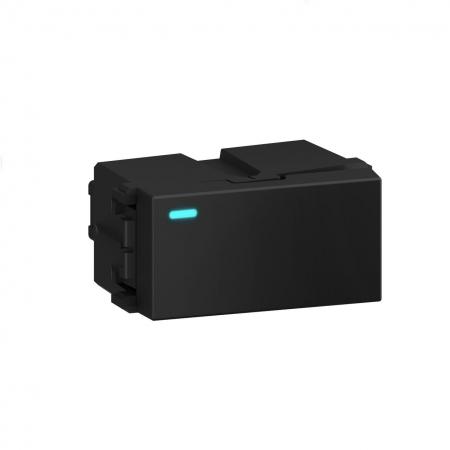INTERRUPTOR SIMPLES/PARALELO C/LED 10A/250V REFINATTO PRETO -14308698