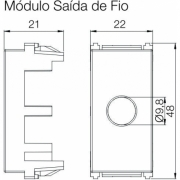 KIT MODULO SAIDA FIO REFINATTO (2PC) PRETO - 14178519