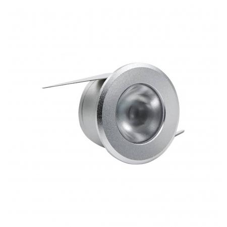 LUMINÁRIA EMBUTIR LED BRILIA 432945 REDONDA 1W 2700K 30G BIVOLT 30X30X18MM - PRATA