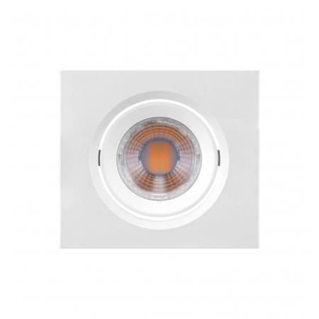 LUMINÁRIA EMBUTIR LED BRILIA 435724 DOWLIGHT QUADRADA MINI DICROICA GU10 MR11 3W 2700K 38G BIVOLT 75X75X43MM - BRANCA
