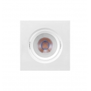 LUMINÁRIA EMBUTIR LED BRILIA 435731 DOWLIGHT QUADRADA GU10 MR16 4,5W 2700K 38G BIVOLT 95X95X46MM - BRANCO