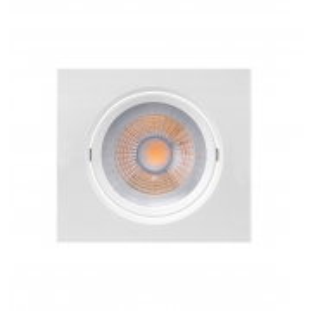 LUMINÁRIA EMBUTIR LED BRILIA 435748 DOWLIGHT QUADRADA PAR20 7W 2700K 30G BIVOLT 117X117X52MM - BRANCO