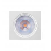 LUMINÁRIA EMBUTIR LED BRILIA 435755 DOWLIGHT QUADRADA E27 PAR30 12W 2700K 30G BIVOLT 140X140X56MM - BRANCO