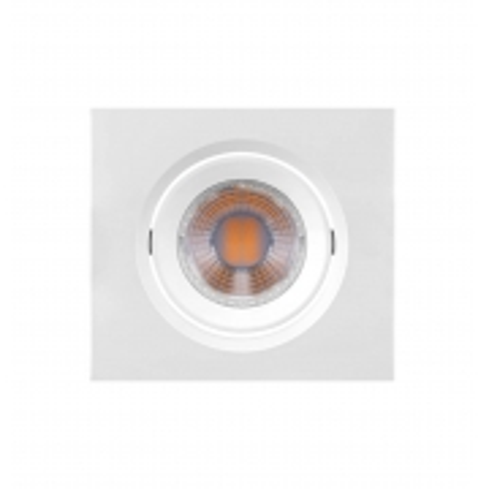 LUMINÁRIA EMBUTIR LED BRILIA 435892 DOWLIGHT QUADRADA MINI DICROICA GU10 3W 6500K 38G BIVOLT 75X75X43MM - BRANCO