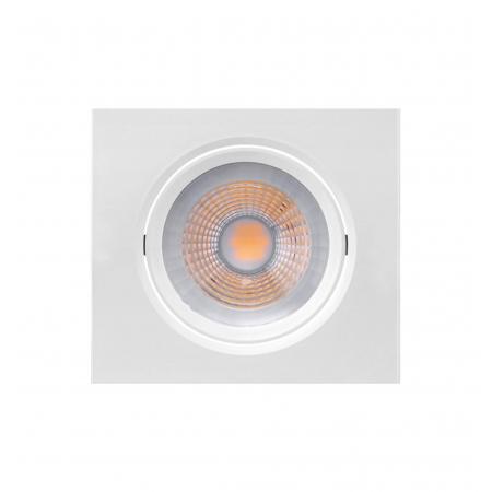LUMINÁRIA EMBUTIR LED BRILIA 435915 DOWLIGHT QUADRADA E27 PAR20 7W 6500K 30G BIVOLT 117X117X52MM - BRANCO