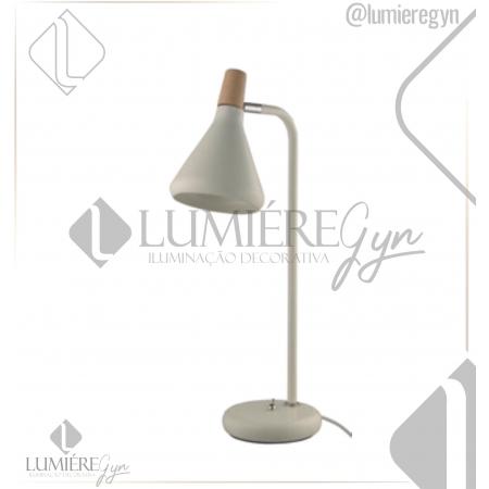 LUMINÁRIA MESA CASUAL LIGHT  QLM1064-BR HORN 1L G9 180X490MM BRANCO