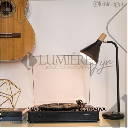 LUMINÁRIA MESA CASUAL LIGHT  QLM1064-PT HORN 1L G9 180X490MM PRETO