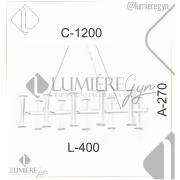 LUSTRE/PENDENTE RETANGULAR 120X40CM METAL   OLD ARTISAN PD-4956/10