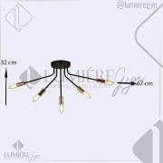 PLAFON 32×67CM METAL BRANCO COM CROMADO E27×5 - DCD01305W-5
