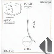 PENDENTE C/ GLOBO 32X18X12CM METAL  E VIDRO | OLD ARTISAN PD-5343