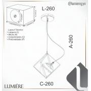 PENDENTE C/ GLOBO COBRE  FOSCO  26X26CM METAL E VIDRO | OLD ARTISAN PD-5205-COF