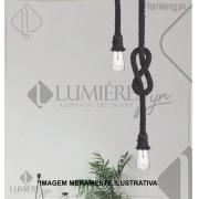 PENDENTE CASUAL LIGHT PD712-PT HALTER 1L E27 Ø35X1500MM PRETO