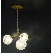 PENDENTE DE CRISTAL LAMPLUZ IRIS 3L LED 9W G9 400X400X650MM