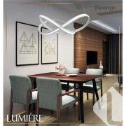 Pendente Infinity Led / Pendente Moderno  70cm Branco