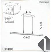 PENDENTE LED OLD ARTISAN PD-5369 22W 2700K 110V 10X40X900MM