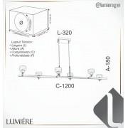 Pendente Led Old Artisan PD-5393 33W 2700K 110w
