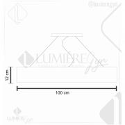 PENDENTE SEMI CILÍNDRICO 5X100cm - Fita LED 2700K 20W - 5011 - FOXLUSTRES
