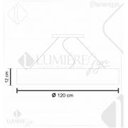 PENDENTE SEMI CILÍNDRICO 5X120cm - Fita LED 2700K 20W - 5012 - FOXLUSTRES