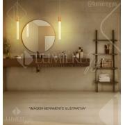 PENDENTE WAND CRISTAL 3.5×36CM DOURADO LED 5W 3500K BIVOLT CABO:150CM - DCD02109
