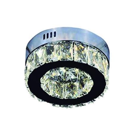 PLAFON 20CM CRISTAL LED 6W 6000K 600LM BIVOLT - DCX00720