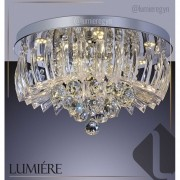 Plafon de Cristal e Acrilico Gretta 30cm LED 3000K (Amarelo)