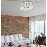 Plafon de Cristal e Acrilico Gretta 30cm LED 6500k (Branco)