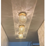 PLAFON DE CRISTAL LAMPLUZ IRIS 1L LED 9W G9 170X150X150MM