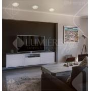 PLAFON DE CRISTAL LAMPLUZ PLC 100.25 2L LED 9W G9 250X250X120MM