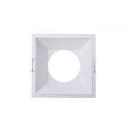 Spot De Embutir Recuado Para 1 Lâmpada Mr16 Quadrado Branco - MB LED - S3219