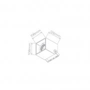 SPOT EXTERNO P/ EMBUTIDO DE SOLO/CHÃO CUBE QUADRADO IP67 10,8X10,8CM ALUMÍNIO CINZA | STELLA STH8701