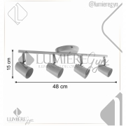 Spot Trilho MY1004BPT Para Lâmpada 15X48cm - Gu10 Branco Bronzearte