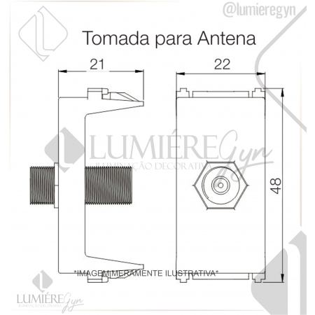 TOMADA ANTENA TV REFINATTO PRETA - 13799591