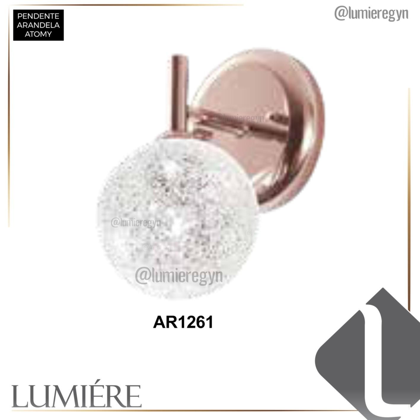 Arandela Quality AR1261 Atomy 1L G9 120x180mm Dourado