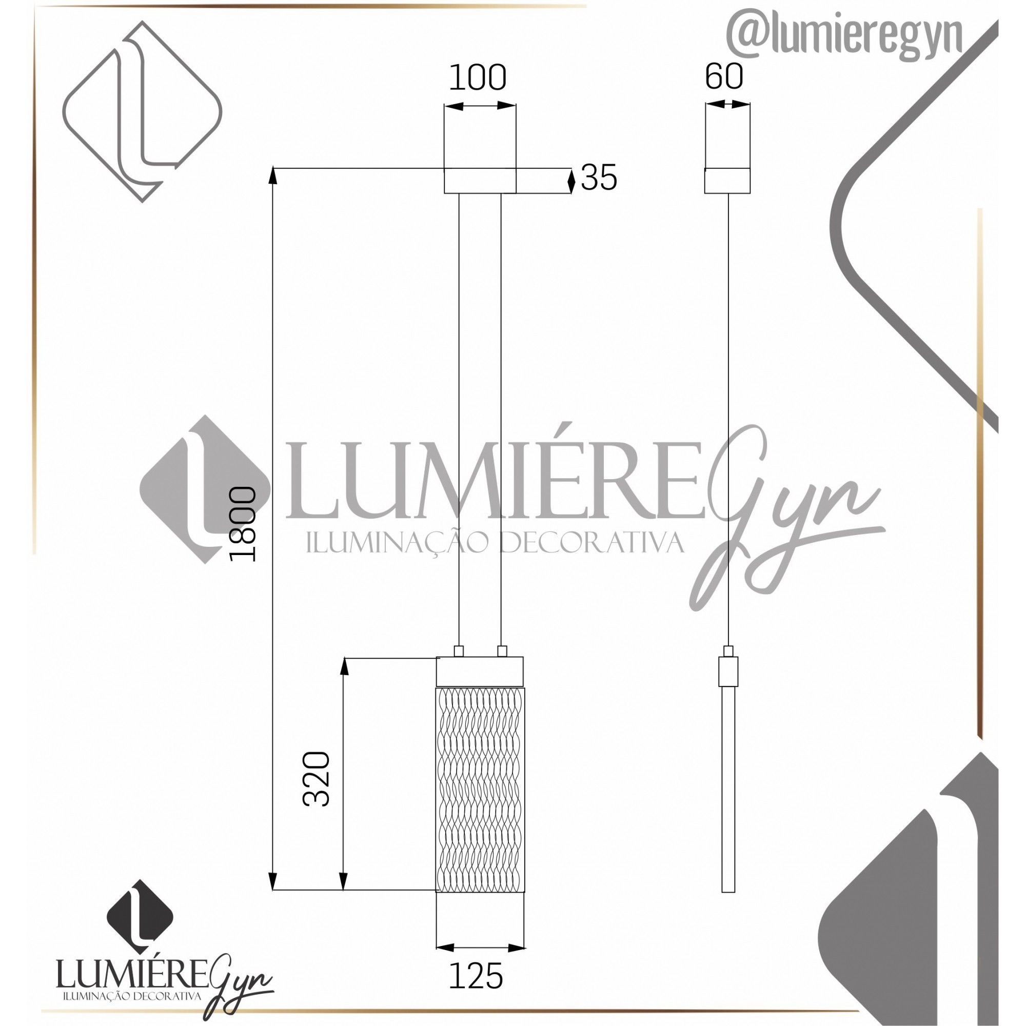 PENDENTE LACTITE G LED 4W 400LM 3000K  VIDRO CRAQUELE DOURADO STUDIOLUCE PD1413