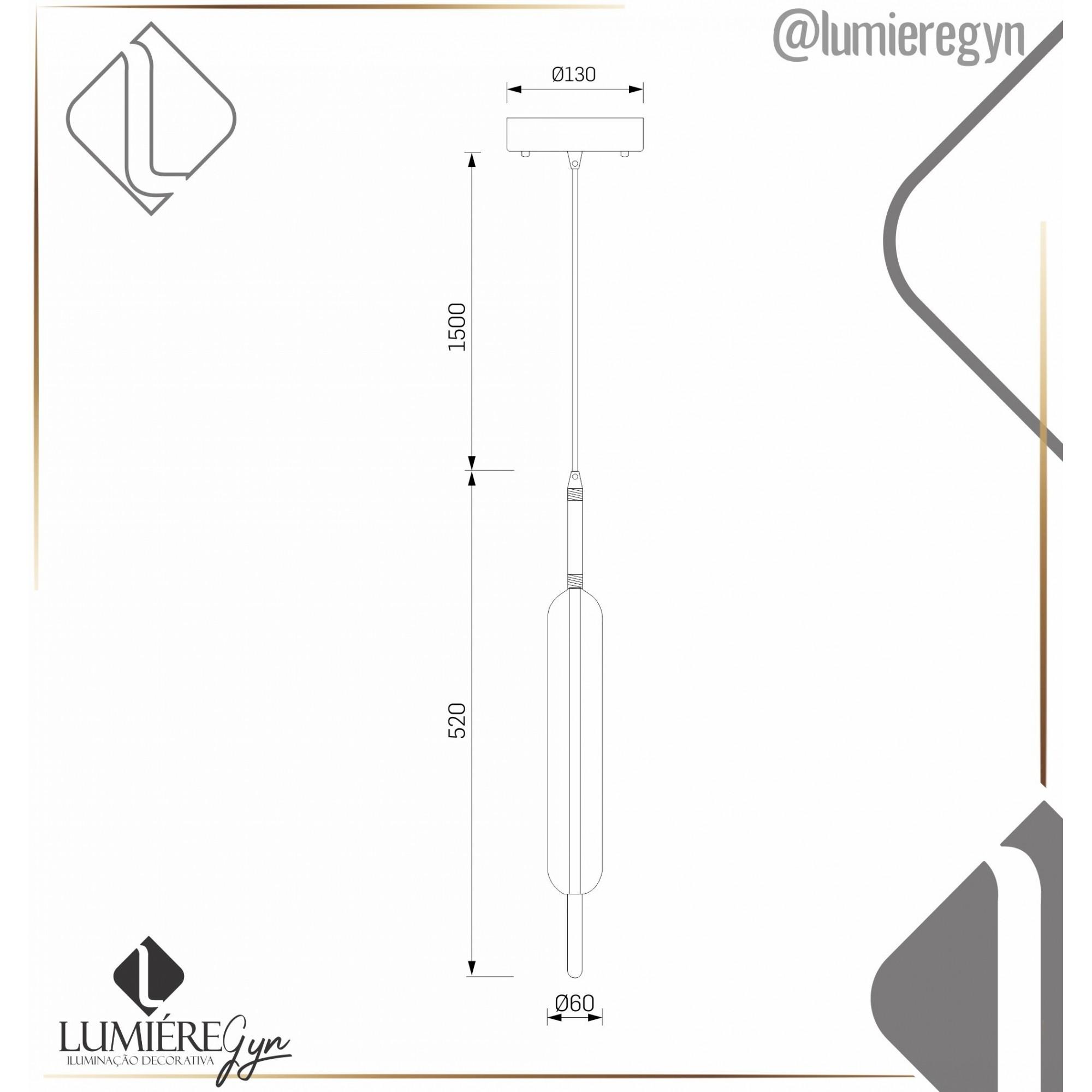 PENDENTE NULLER LED 10W 1100LM 3000K BRONZE  STUDIOLUCE PD1403