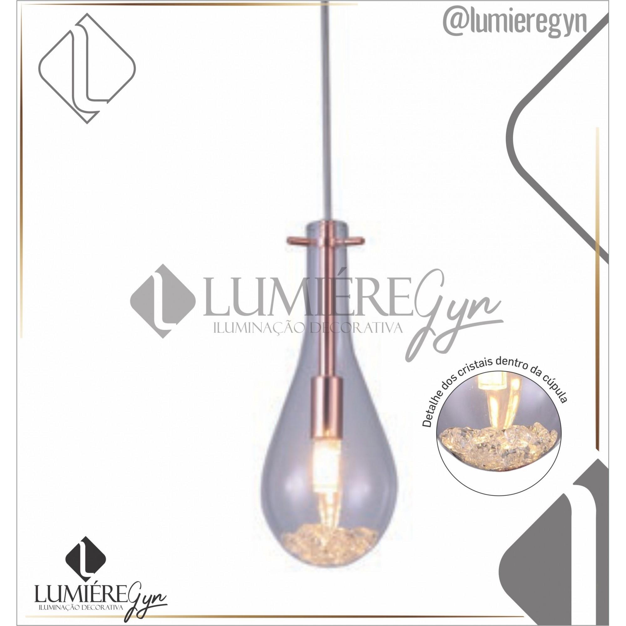 PENDENTE GOTA TEAR 1XG9(LED 5W)  CASUAL LIGHT PD1434