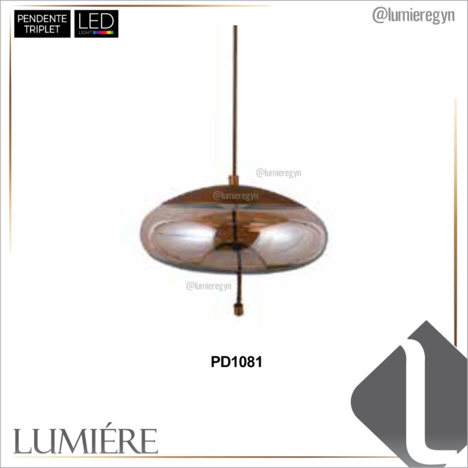 Pendente TRIPLET Champagne - PD1081