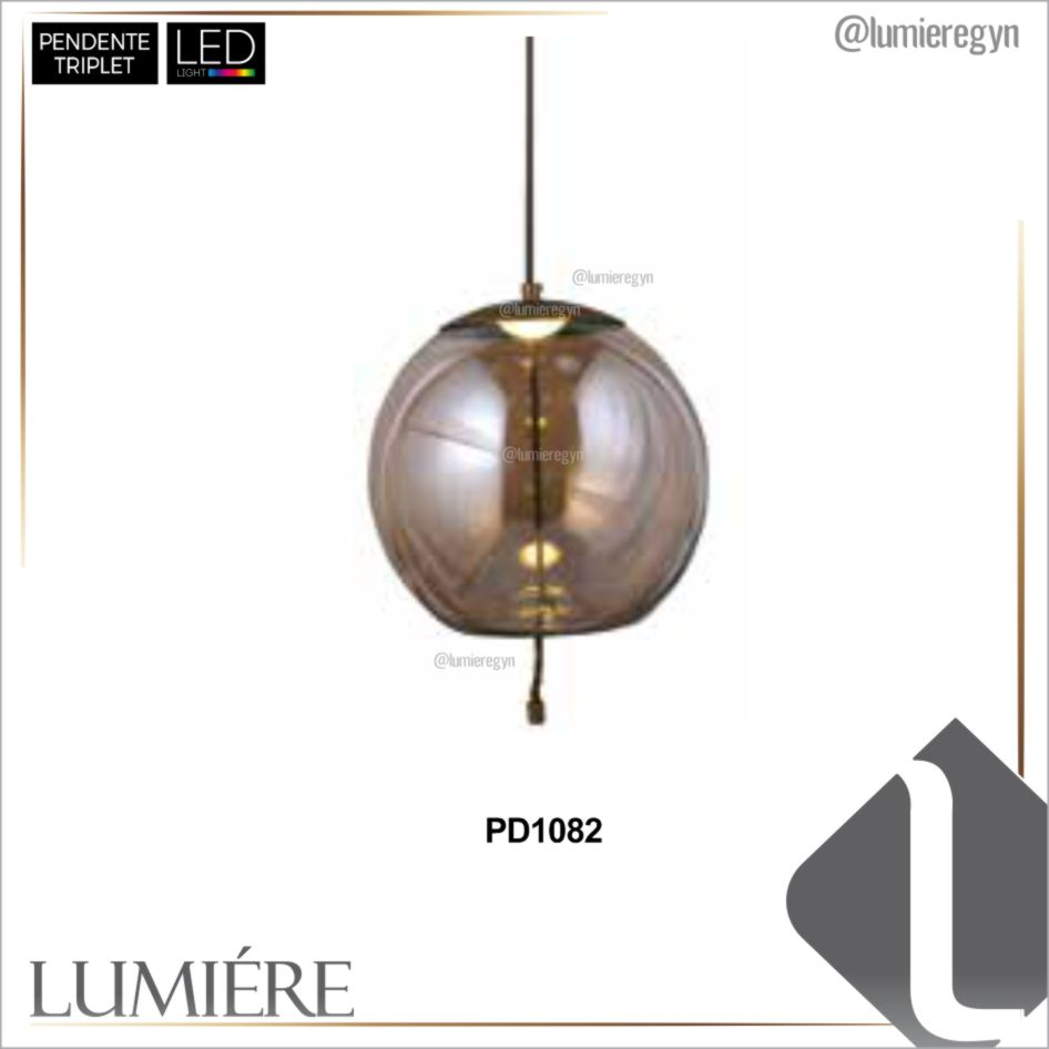 Pendente TRIPLET Champagne - PD1082
