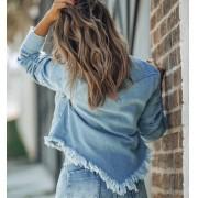 Jaqueta Jeans Desfiada