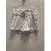 Shorts Branco com cinto
