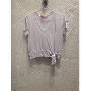 T-shirt básica nó Branca