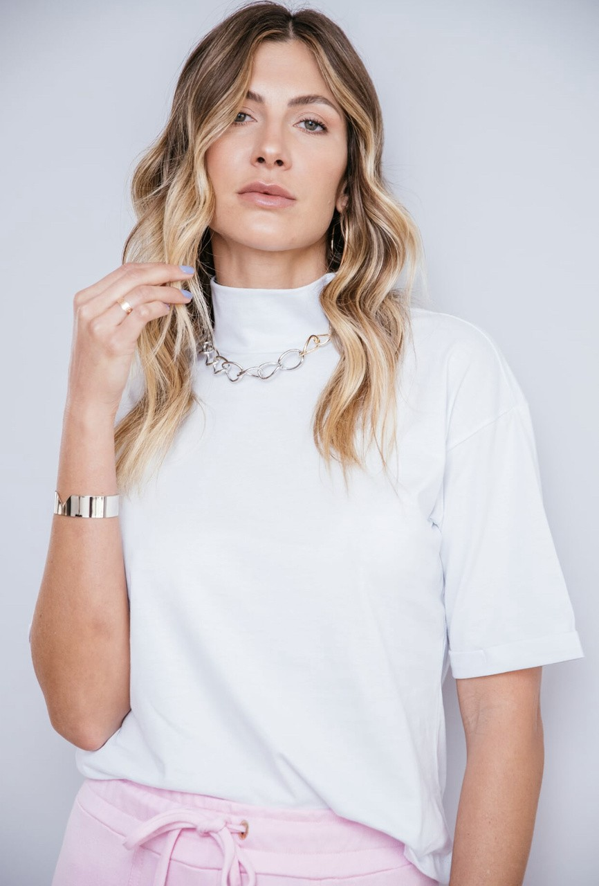 T-shirt gola alta Lorena